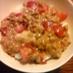 大絶賛納豆で、トマト納豆