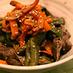種まで食べるピーマンと牛肉の韓国風煮物