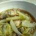鶏肉と白菜のすき焼き風煮物