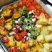 タコと彩り野菜のガーリックバターグリル