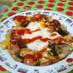 茄子とパプリカのオープンオムレツ