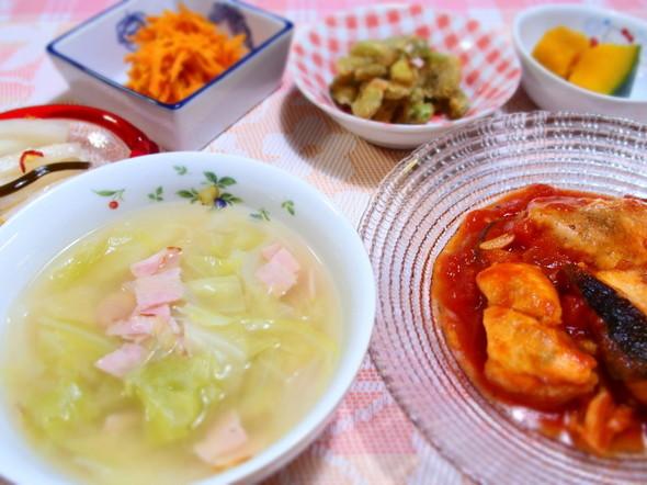 鮭ときのこのトマト煮と素敵レシピ☆