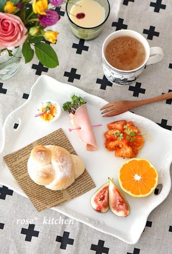ワンプレート朝ごパン♪