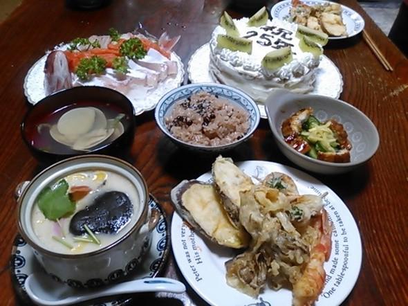 結婚記念日のお祝い料理_151024