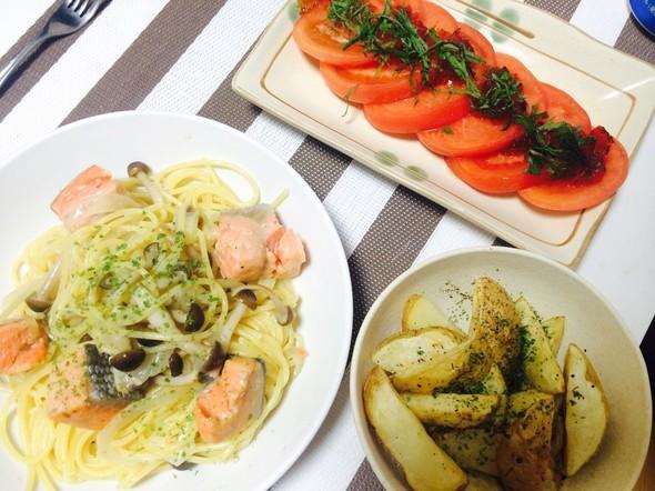 夕食*パスタ