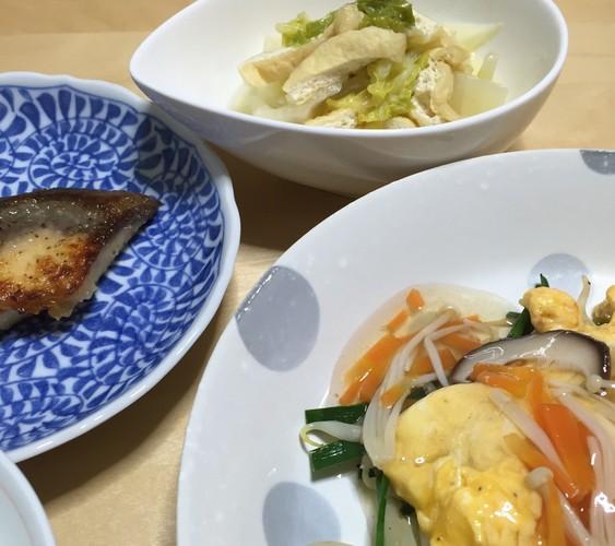 焼き魚で和風な夕食♪
