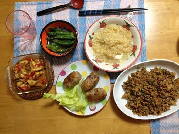 野菜大豆かさましボリュームUPな食卓
