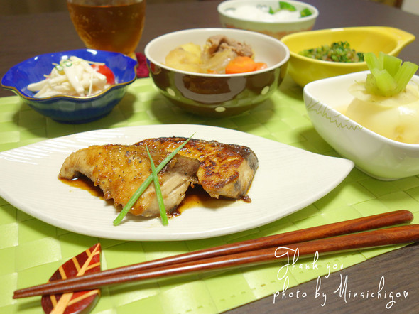 今日はお魚メインの晩御飯