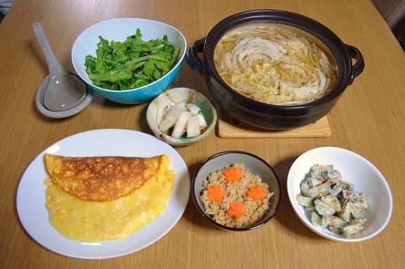 我が家の晩ご飯【2015.11.19】