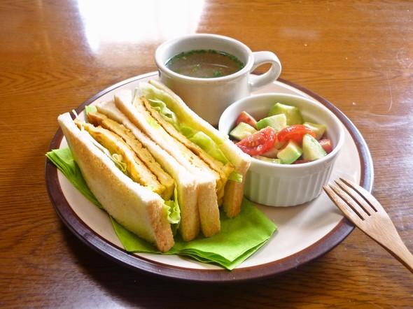 ✿休日のサンド・サラダ・スープランチ✿