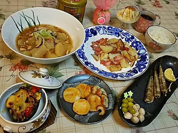 クック素敵レシピで晩御飯~ありがとう