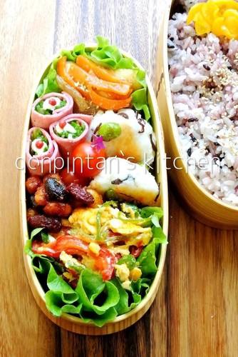 お弁当/枝豆ときくらげの練り物