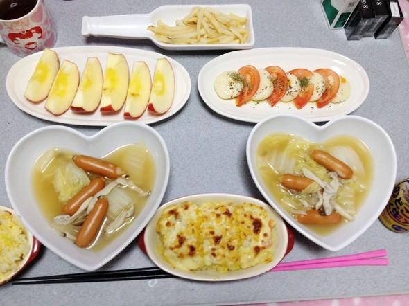 白菜の洋風スープで夜ごはん♡