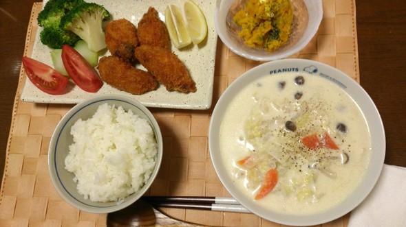 クリーム煮の定食