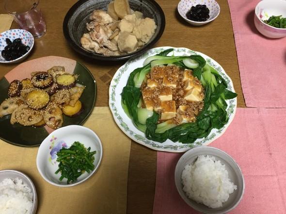'16.1.5 中華肉あんかけで夕ご飯♪