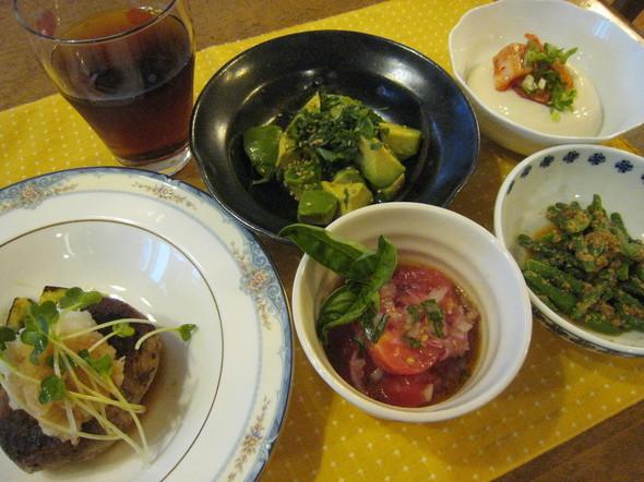 暑い日に食べたいサッパリ美味し~夕食です