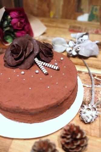 同僚へのはなむけに♡チョコレートケーキ