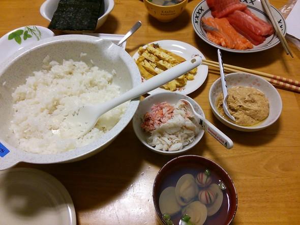 ひなまつりの夕飯