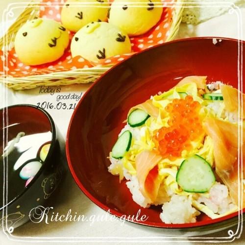 チラシ寿司で夕食