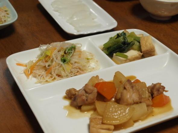 大根と鶏肉の煮物で晩ごはん(3/20)