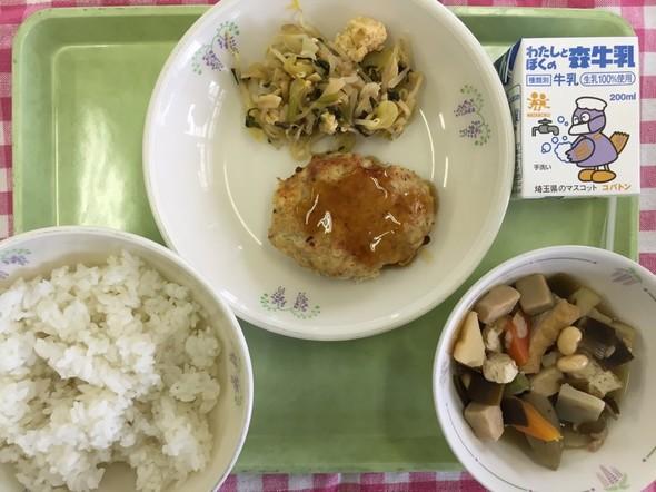 和風ハンバーグ&五目煮 和食の献立