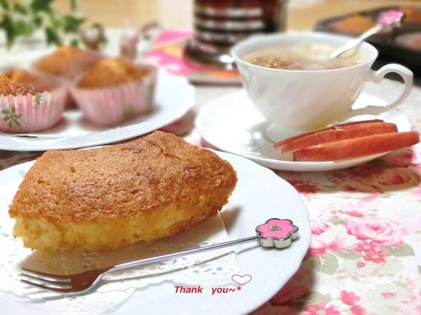 ♡アーモンドケーキとすりおろし林檎紅茶♡