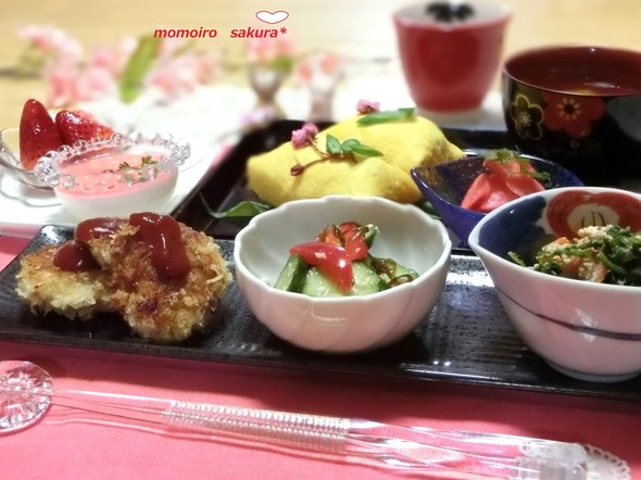 ♡桜のふくさ寿司で夕ご飯♡