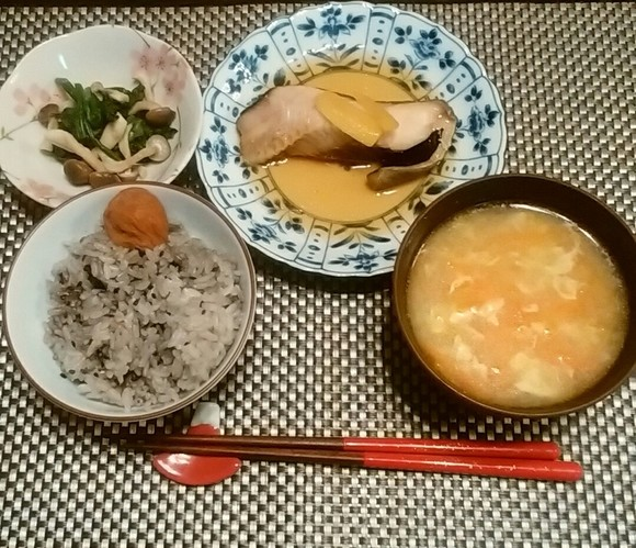 今日もお魚~♪夕ご飯