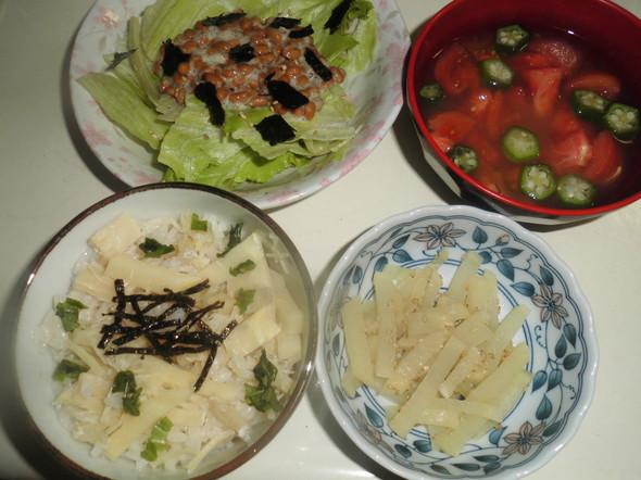 帆立と筍の炊き込みご飯