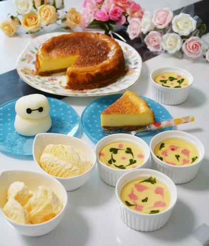 アイスとチーズケーキ