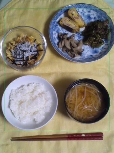 江の島にはまってる母子の朝食