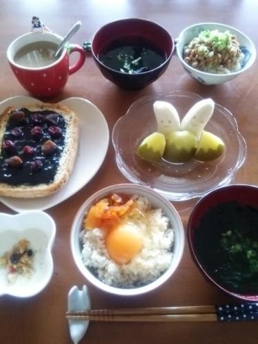 *私と息子達の朝食*