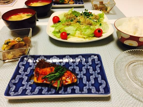 夕食*ぶりの照り焼き