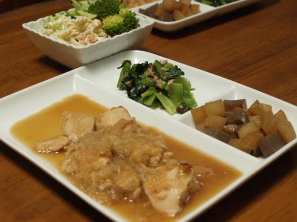 鶏胸肉のおろし煮で晩ご飯(5/28)