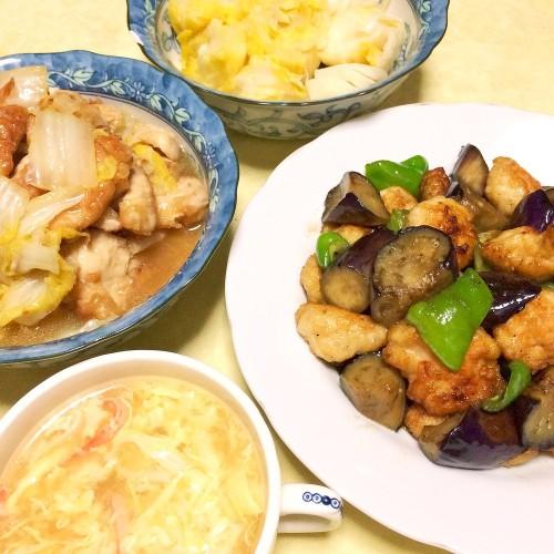 人気の中華レシピの夕ごはん☆