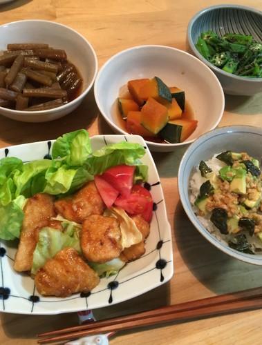 頂き物の野菜でいつかの晩ごはん