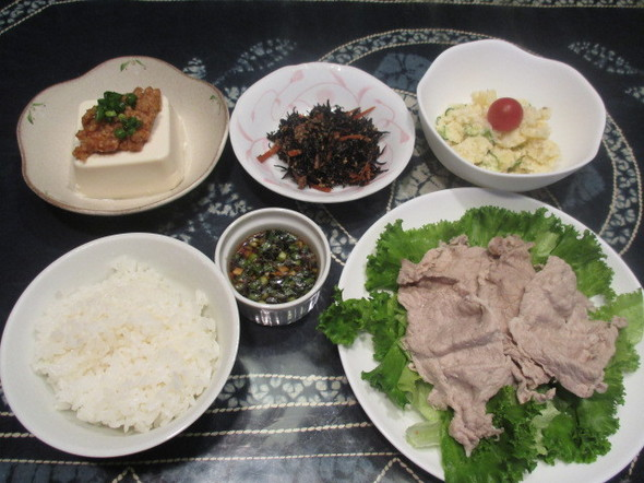 2016/6/22冷しゃぶで夕食