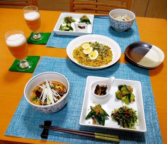 旦那様作モニター商品で夕食(*^▽^*)