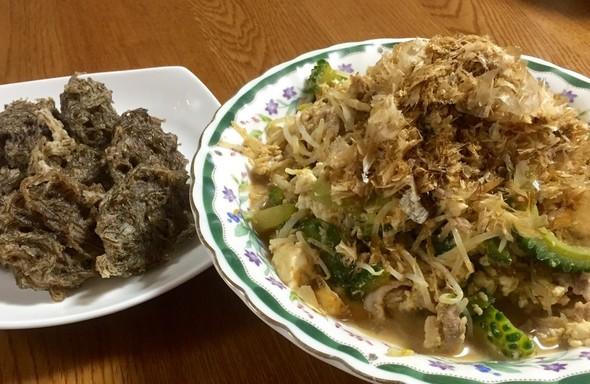 沖縄料理の晩ご飯