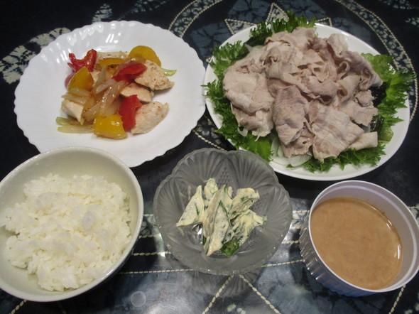 2016/7/13冷しゃぶで簡単夕食