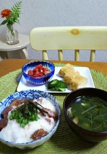 13.07.24(水)山かけ丼…★