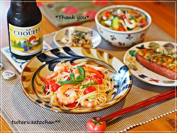 *素麺活用・晩ごはん*