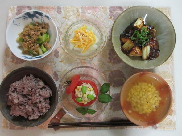 ぶりマーボーとトマトカップサラダの晩御飯