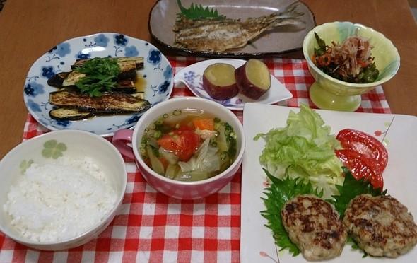 夕食 鯵ハンバーグ
