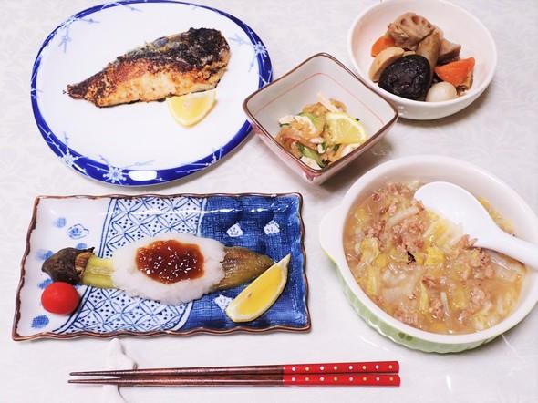 新レシピで和食の夕食