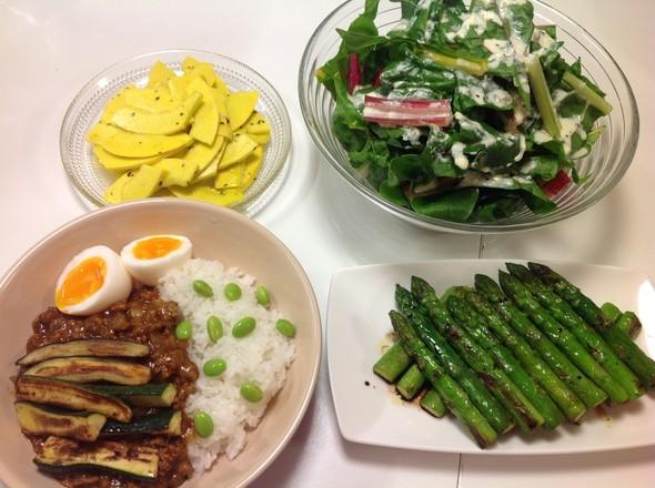 ・北海道の採れたて野菜で夜ごはん・