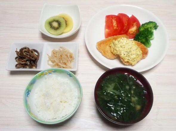 ダイエット146日目のメニュー(夕食)