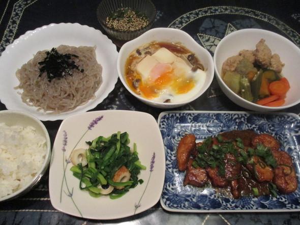 2016/8/25ご飯お代わり続出の夕食