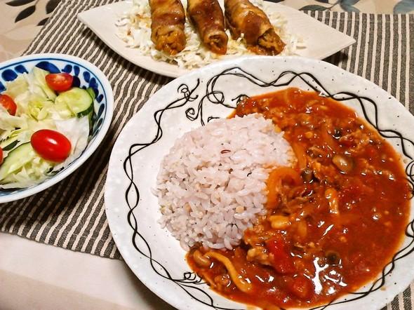 ハヤシライスで夕食
