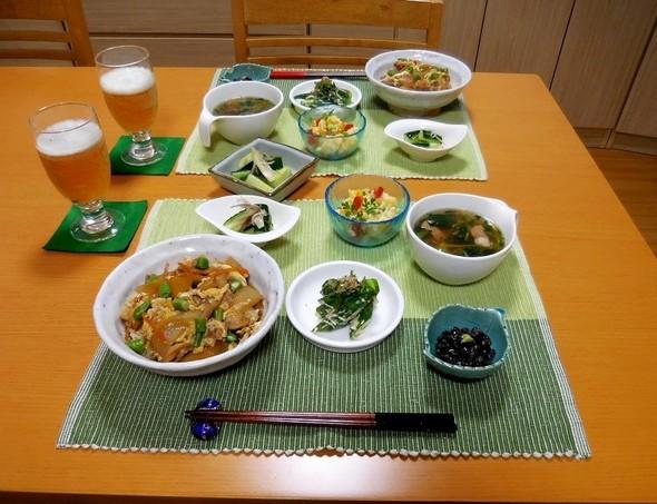 パパッと親子丼夕食 (^^)b